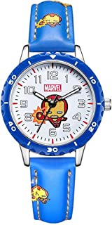 BCCDP Capitán América Shield Watch Flip Reloj de Cuarzo Marvel Boy Reloj para niños Regalo para Estudiantes Regalo de Cump...