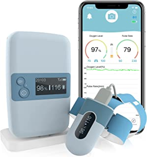 Wellue BabyO2 S2 — Baby Monitor — Tracking Oxygen & Heart Rate for Baby Safety, Fits Babies 0 to 3 Years Old