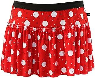 Red and White Polka Dot Sparkle Running Skirt