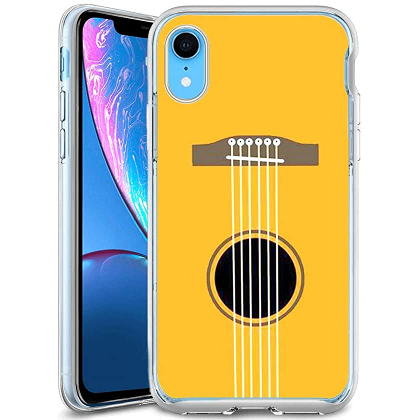 Creative Designs Guitar Strings Crystal Transparent Anti-Scratch Phone Case for iPhone Xr