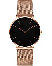 レディース 腕時計 Hannah Martin 超薄型 7MM おしゃれ クラシック シンプル 女性 防水 時計 ビジネス 日本製クォーツ watch for women