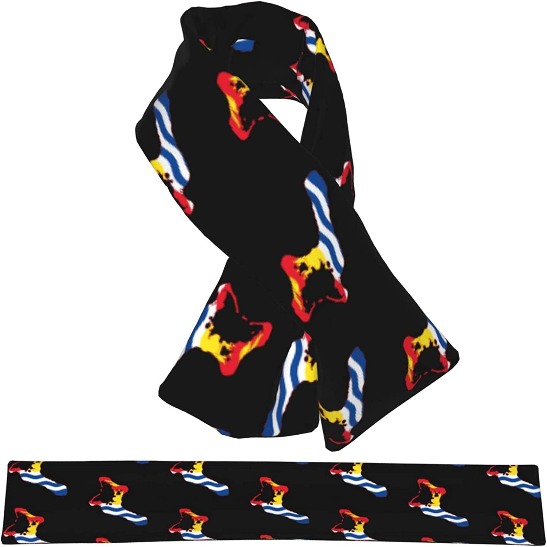 Flag Dallas Mall Map Of Kiribati Fort Worth Mall Flannel Cross Shawl Neck Collar Wrap Scarf
