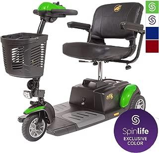 BUZZAROUND EX 3-Wheel Heavy Duty Long Range Travel Scooter, Green, 18-Inch Seat
