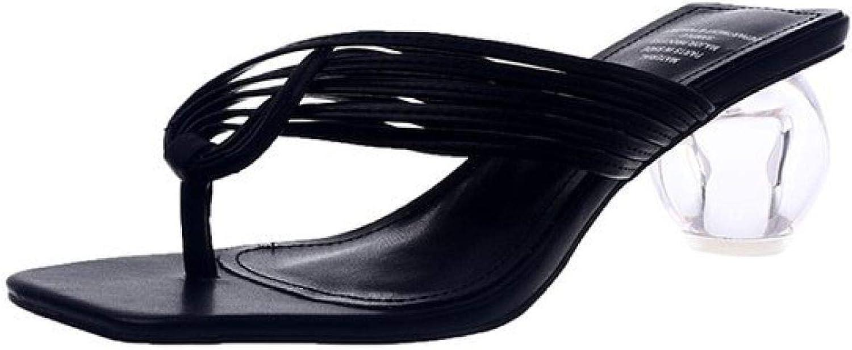Women's Square Toe Flip Flops Mules Clear Chunky Heels Slip On Slide Sandals Wedding Dress Slippers Slides
