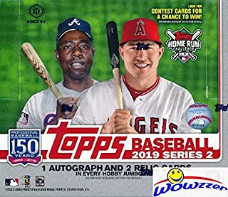 2019 Topps Series 2 MLB Baseball ENORMOUS HTA HOBBY Factory Sealed JUMBO Box with 460 Cards & THREE(3) AUTOGRAPH or RELIC Cards! Absolutely Loaded with ROOKIES, AWESOME INSERTS & PARALLELS! WOWZZER!