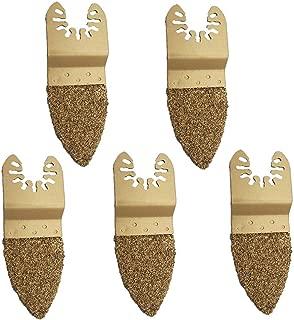 5/10PCS Carbide Oscillating Multi-tool Sanding Finger Rasp Universal Kit for Dewalt, Ridgid, Stanley, Weatfalia, Einhell, Bosch, Craftsman & Rockwell Fast fit Woodworking Multi-tool
