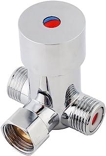 G1 / 2 Válvula Mezcladora de Agua Fría y Caliente Válvula Termostática de Latón para Grifo Automático