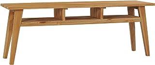 pedkit Mesas auxiliares Mueble para TV Madera Maciza de Teca 120x35x45 cm