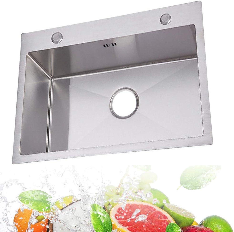 OBLLER Edelstahlspüle Einbauspüle Küchenspüle Spülbecken Waschbecken Ablaufzubehr-Set