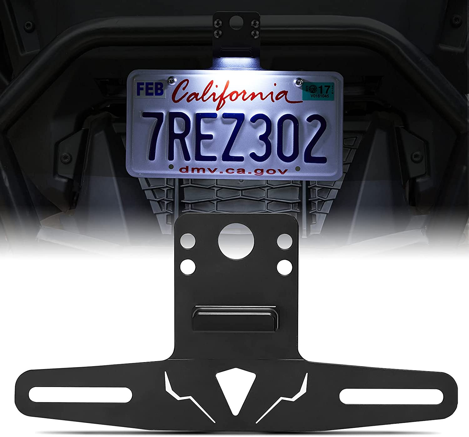 Kemimoto Aluminum ATV UTV License Po with lowest price Free Shipping New Compatible Frame Plate