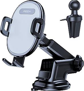 Porta Cellulare da Auto, ROCK 2 in 1 Supporto Smartphone per Auto per Cruscotto e Parabrezza e Bocchetta Dell'aria, Compat...