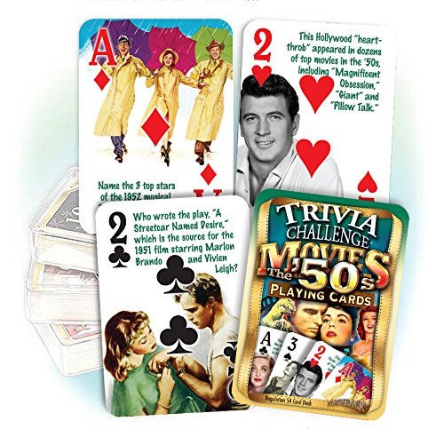 Flickback 1950's Movie Trivia Playing Cards: 65th or 70th Birthday