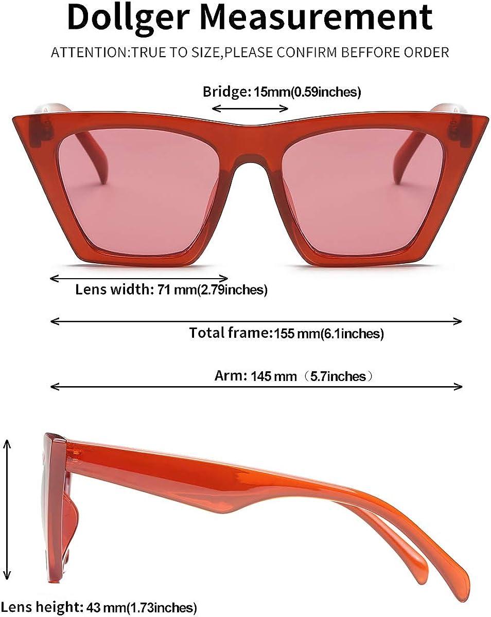 Square Cat Eye Sunglasses for Women Fashion Oversize Cat-eye Classic women Sunglasses