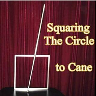 Enjoyer Magiska tricks kvadrater cirkeln till polkagris scenillusion rekvisita magisk gimmick utseende käppstav tillbehör...
