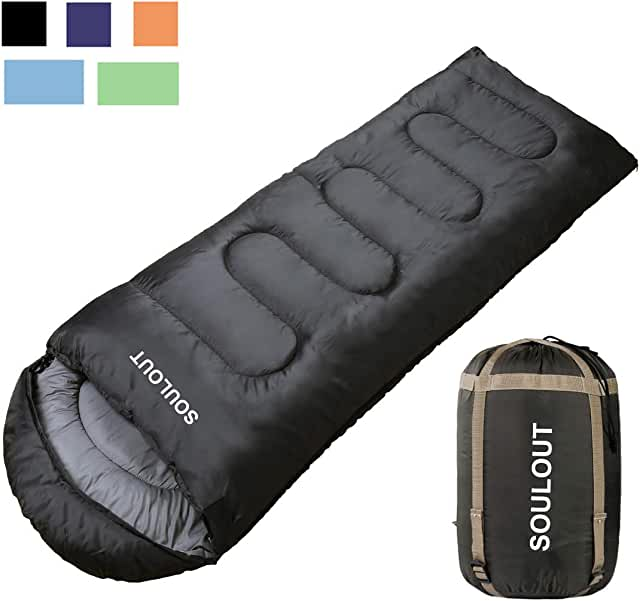 Sleeping Bag - 4 Seasons Warm Cold Weather Lightweight, Portable, Waterproof Sleeping Bag with Compression Sack for Adults & Kids - Indoor & Outdoor: Camping, Backpacking, Hiking