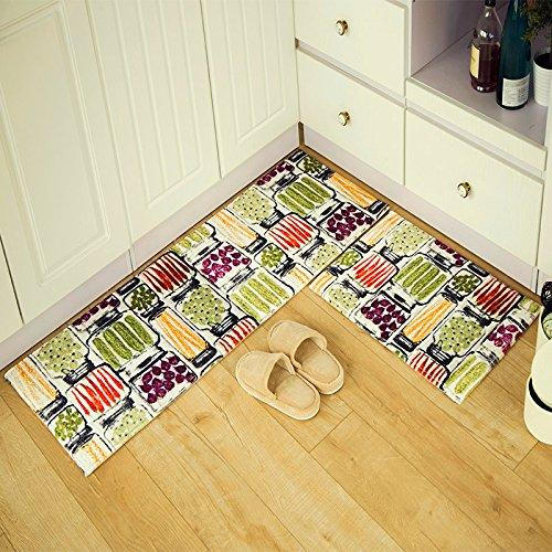 BLZZR * deur tot de entree, mat, voor thuis, keuken, toilet, slaapkamer, vochtinbrengend, mat, badkamer antislip, mat, 40 + 45 x 60 x 120 cm, 2, abstract voor groenten