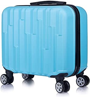 "Fashion 18"" Travel Luggage Suitcase Spinner Wheels Boarding Case Trolley Suitcase Wheeled Travel Rolling Luggage Suitcase LGX32 (Color : Light Blue)"