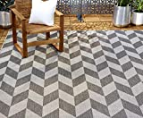 Home Dynamix Nicole Miller Patio Country Calla Indoor/Outdoor Area Rug 7'9'x10'2', Modern Geometric Black/Gray