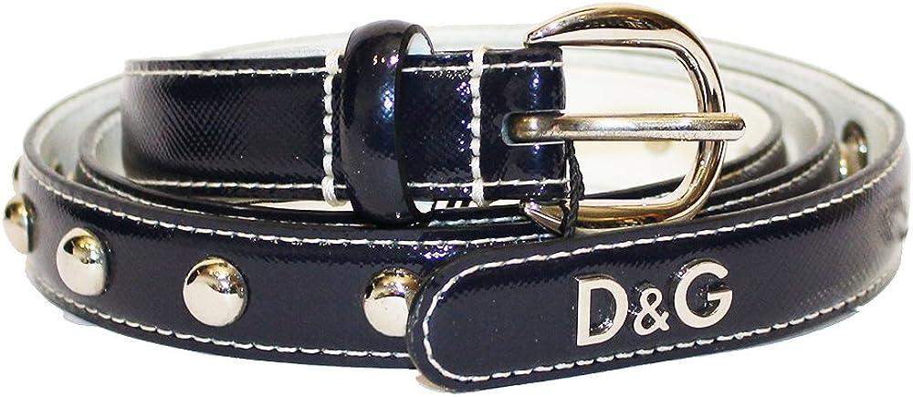 Dolce & gabbana d&g, cintura per donna,in vera pelle al 100 % DC0686E14D/80650