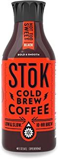 SToK, Cold-Brew Iced Coffee Not Too Sweet, 48 oz