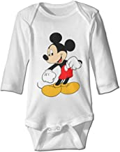 Mickey Mouse Custom Unisex Baby's Toddler Cotton Long Sleeve Jumpsuit