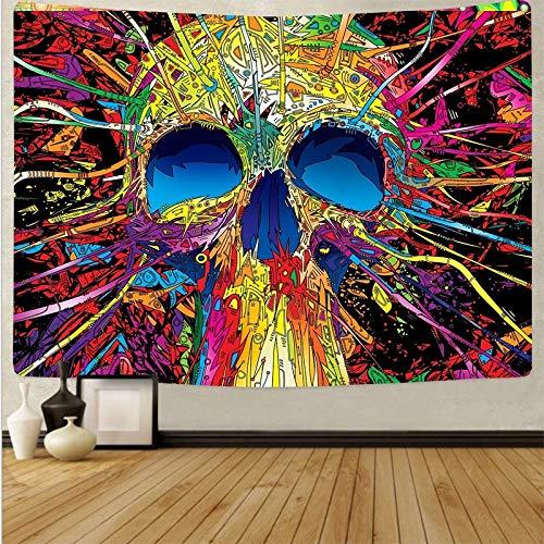 KHKJ Tapiz de Mandela para Colgar en la Pared, tapices psicodélicos, Alfombra de Playa Hippie, decoración de Dormitorio, Tela de Pared artística A17 150x130cm