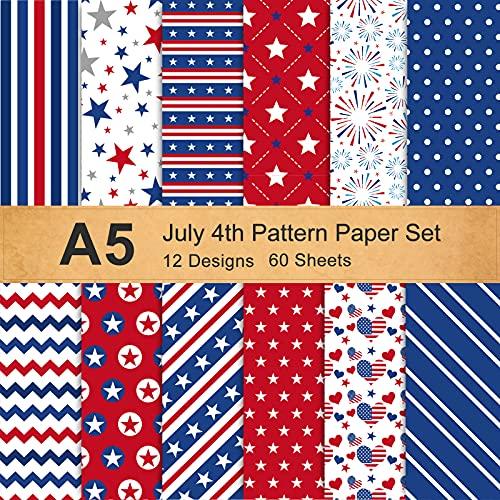 4th of July Pattern Paper Set