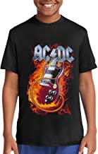 WilliamBurton ACDC Cotton Youth Girls Boys T Shirt Unisex Pop Blouse Black