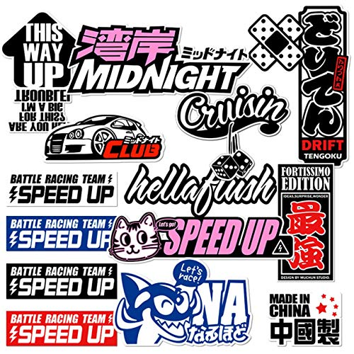 Harajuku Cartoon Graffiti Hip Hop Marea Marca Equipaje Etiqueta Trolley Maleta Impermeable Personalizada Decorativa Etiqueta 15PCS