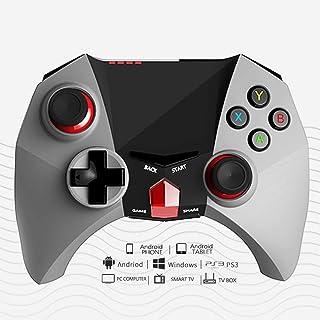 Bat Chariot Series Grigio Gioco Controller Wireless, 10m Remoto 2.4G Bluetooth PS3 Personalizzate Chiavi Gamepad Doppia Vi...