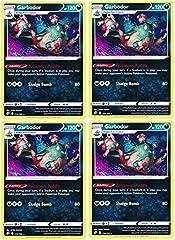 Pokemon - Garbodor - Rebel Clash x4 Card Playset - 118/192 Rare
