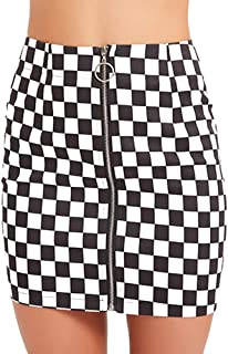 Best navy checkered skirt Reviews