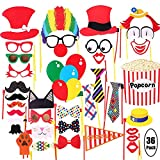 COOLOO Attached Photo Booth Props, Party Favors for Wedding Birthday...