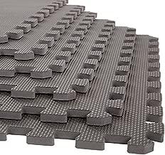 Stalwart Foam Mat Floor Tiles, Interlocking EVA Foam Padding Soft Flooring for Exercising, Yoga, Camping, Kids, Babies, Playroom – 6 Pack, Gray, 24