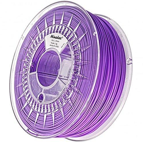Minadax Filamento di PLA per stampanti 3D, di qualità premium, prodotto in Europa Nero  3mm (2.85mm)