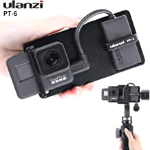 Ulanzi PT-6 Switch Mount Plate for DJI Osmo Action/GoPro Hero 7 6 5, Action Camera Audio Mic Adapter Applied to DJI Osmo Mobile 2 Zhiyun Smooth 4 Moza Mini-S Gimbals
