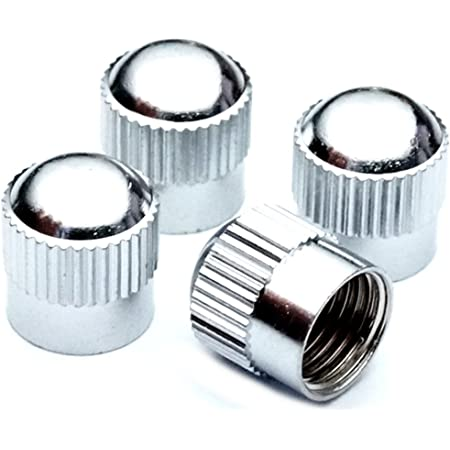Preskin Ventilkappen 5 X Hexadome Auto Ventilkappe Aus Messing Chrom Ventildeckel Für Reifenventile Auto
