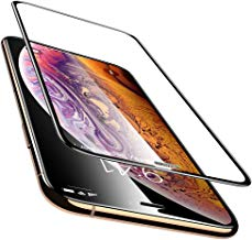 Aeidess Tempered Glass for Apple iPhone Xs/X (Black)-Edge to Edge Full Screen Coverage