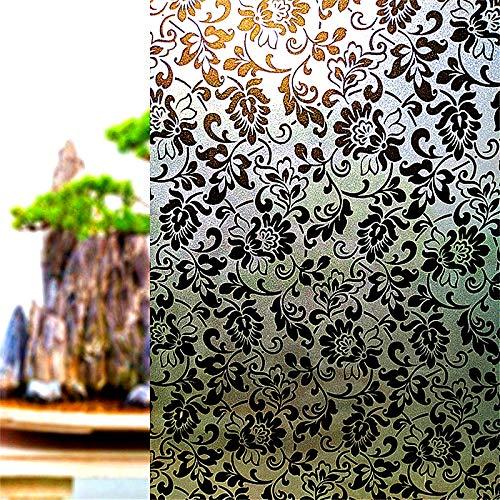 LMKJ Película de Ventana de Vidrio de privacidad Esmerilado electrostático sin Gel; Sala de Estar Dormitorio baño decoración Ventana Pegatinas C1 60x100cm