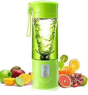 便携式搅拌机、USB可充电冰沙机配6刀片420ミリリットル果汁杯、全自动多功能电动果汁搅拌机、绿色
