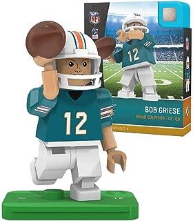 Oyo Sportstoys NFL Miami Dolphins Sports Fan Bobble Head Toy Figures, Teal/Orange, One Size