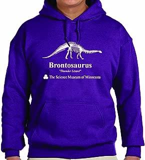 TeeINKS Stranger Things Purple Brontosaurus Hoodie (Large)