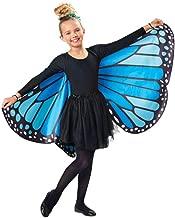 Seasons Direct Halloween Girls Blue Butterfly Cape Wings