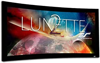 Elite Screens Lunette 2 Series, 125-inch Diagonal 2.35:1, Curved Home Theater Fixed Frame Projector Screen, CURVE235-125W2