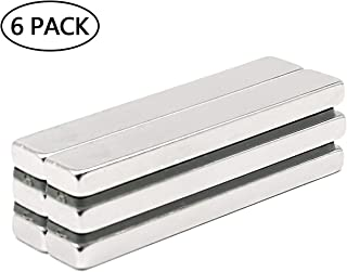 KYGNE 6Pcs Strong Neodymium Bar Magnets, Rare Earth Magnets, N45, for Crafts, Science and Misti, 60 x 10 x 5 mm