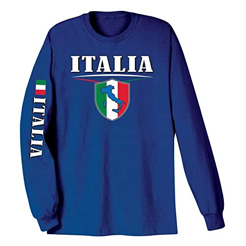 9627139d WHAT ON EARTH Unisex Adult International Long Sleeve T-Shirt- Italia (Italy)