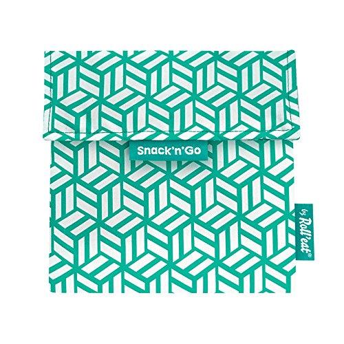 Fundas Bocadillo con Cierre F/ácil Pack x2: BOC/'n/'Roll Tiles Verde Bolsas Merienda Porta Bocadillos Ecol/ógicas y Reutilizables sin BPA Rolleat SG Kids Piratas Azul 2 Unidades