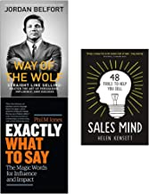 Way of the Wolf, Exactly What to Say, Sales Mind [Hardcover] 3 Books Collection Set