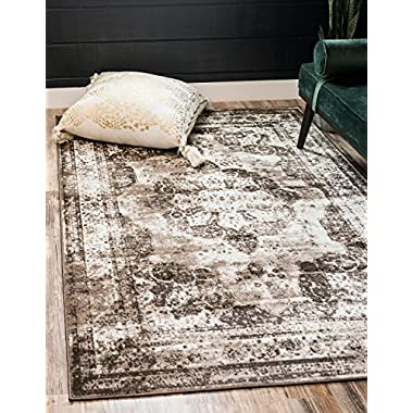 Unique Loom Sofia Collection Traditional Vintage Light Brown Area Rug (4' x 6')