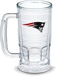 Tervis 1303301 NFL New England Patriots Primary Logo Insulated Tumbler with Emblem, 16oz Beer Mug, Clear